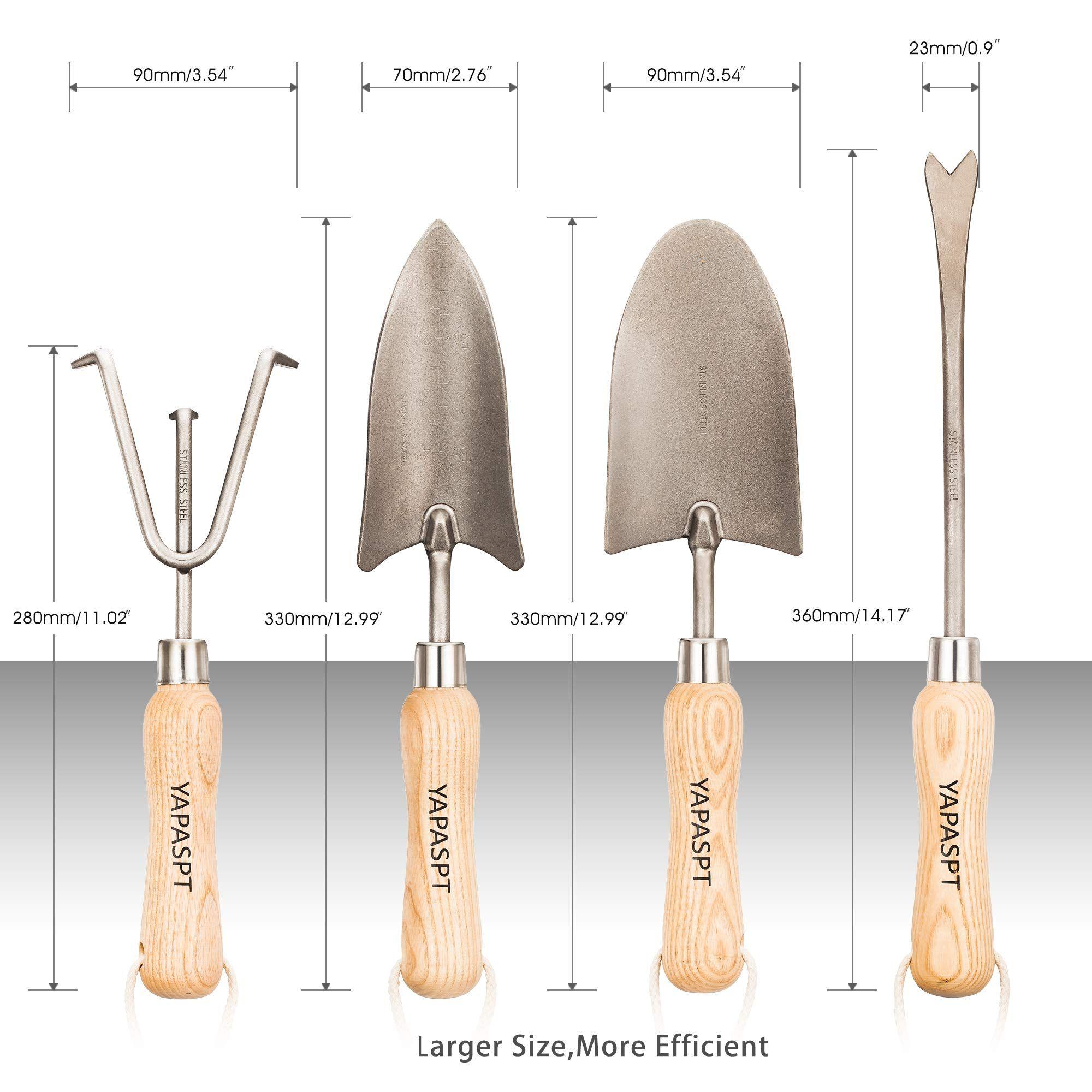 Yapaspt Gardening Tools 4 Piece Heavy Duty Garden Hand Kit