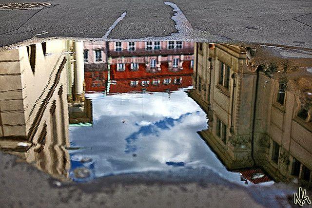 Reflection of Prague.