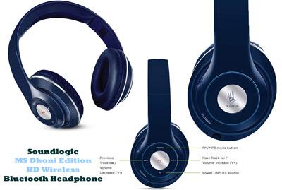Soundlogic Ms Dhoni Edition Hd Wireless Bluetooth Headphone Review Bluetooth Headphones Wireless Bluetooth Bluetooth Headphones Wireless
