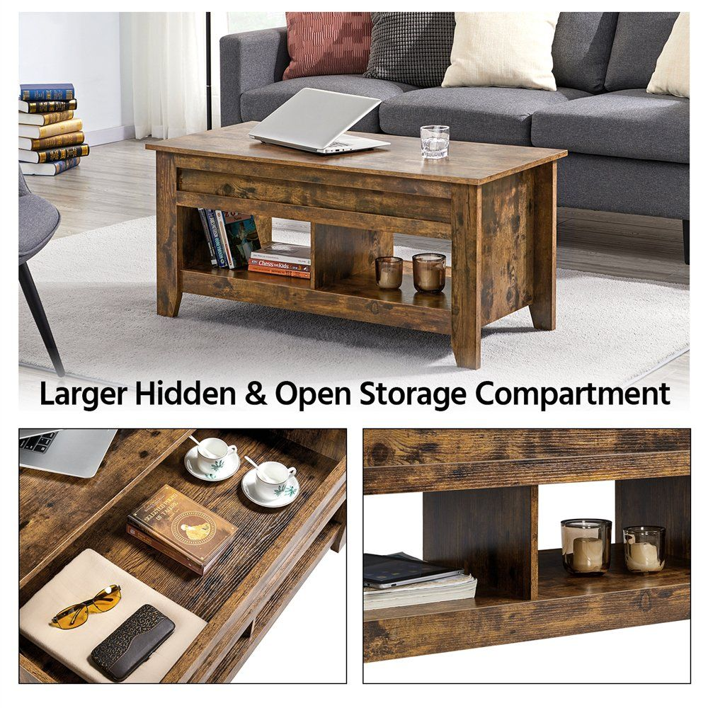 Smilemart Rustic Wooden Lift Top Coffee Table With Storage For Living Room Rustic Brown Walmart Com In 2021 Coffee Table Extendable Coffee Table Chest Coffee Table [ 1000 x 1000 Pixel ]