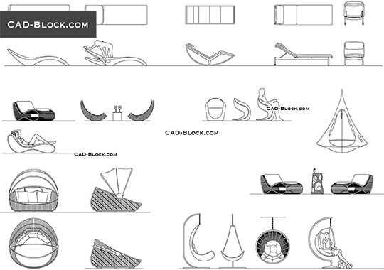 Patio Furniture free AutoCAD Blocks