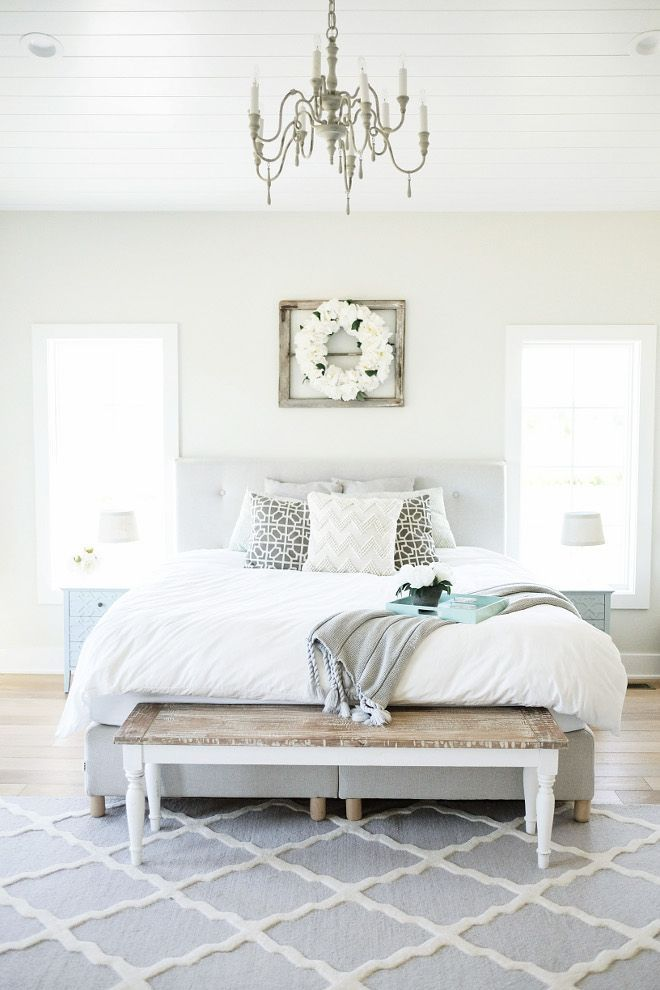 Our Master Bedroom colour at Toad Hall - The paint color is Classic Gray by  Benj