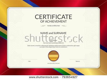 Luxury Certificate Template With Elegant Border Frame Diploma