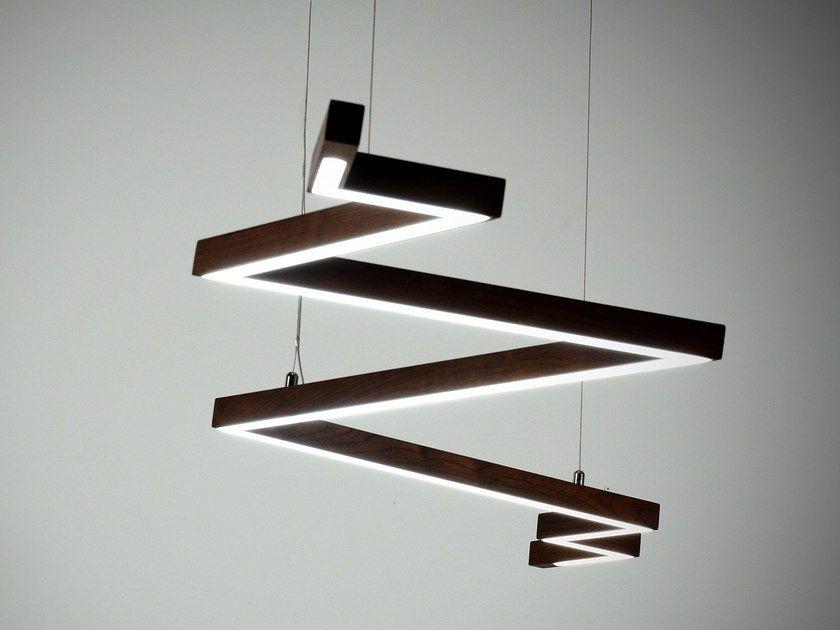 Suspension LED en bois massif pour éclairage direct BOLT