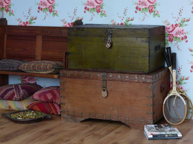 Stackable Storage Trunks And Chests | ... : / At Home / Wooden Chests