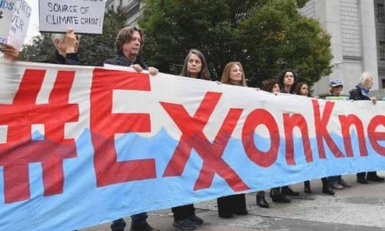Climate Activists Protest During Exxonmobil S Trial Outside The New York State Supreme Court Building In New York Cit Exxon New York Landmarks Cool Costumes