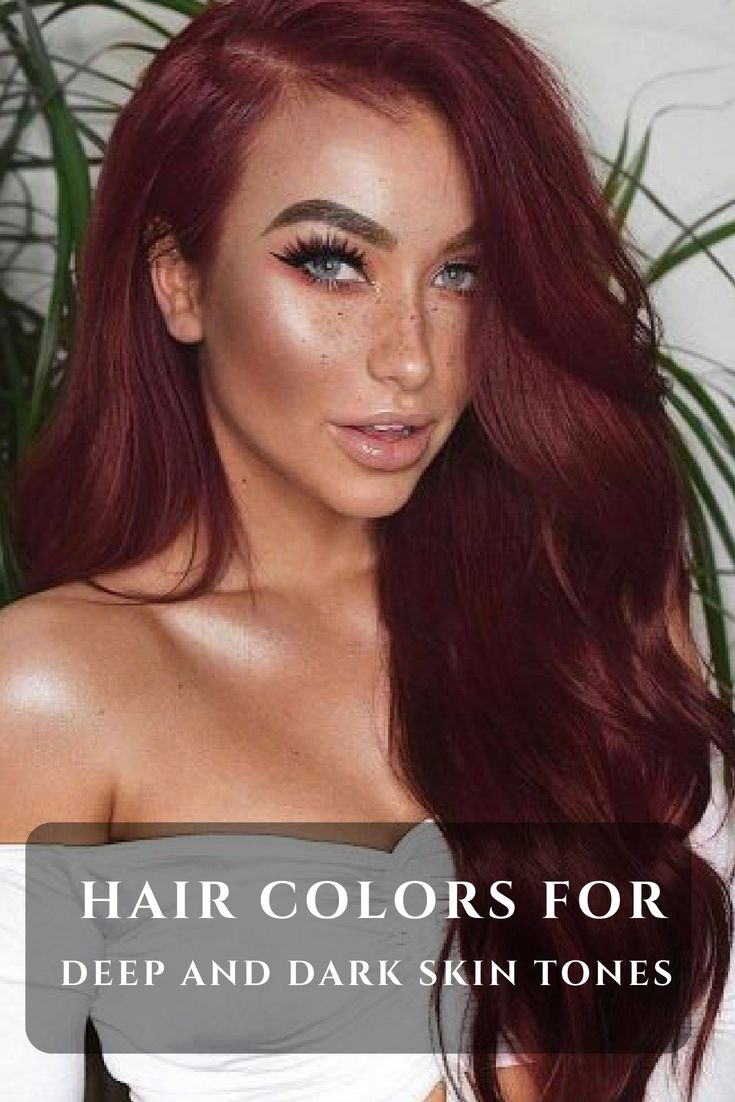 30 Hair Colors For Deep And Dark Skin Tones Beauty Pinterest
