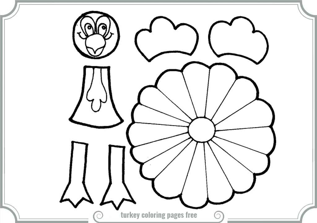 Turkey Parts Coloring Pages You'll Love