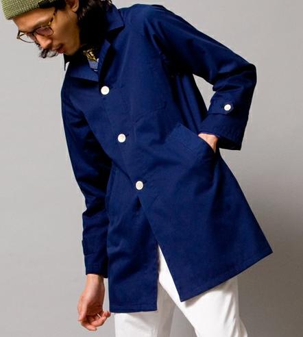 ブルー×白のボトムスで爽やかさアップ。メンズ ステンカラーコートの人気おすすめ一覧を集めました。