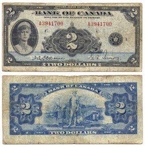 2 DOLLARS 1935 ANGLAIS, OSBORNE/TOWERS (F) 1935 ENGLISH 2
