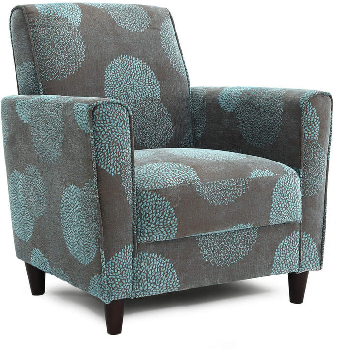 Dhi Enzo Sunflower Contemporary Style Accent Arm Chair Blue: DHI Enzo Sunflower Chair In 2019