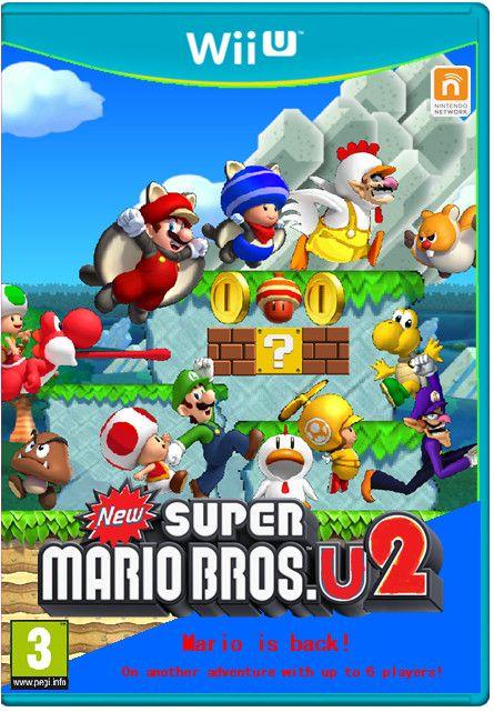 New Super Mario Bros U2 Boxart Europe By Itdalek On Deviantart Super Mario Bros Mario Bros Super Mario