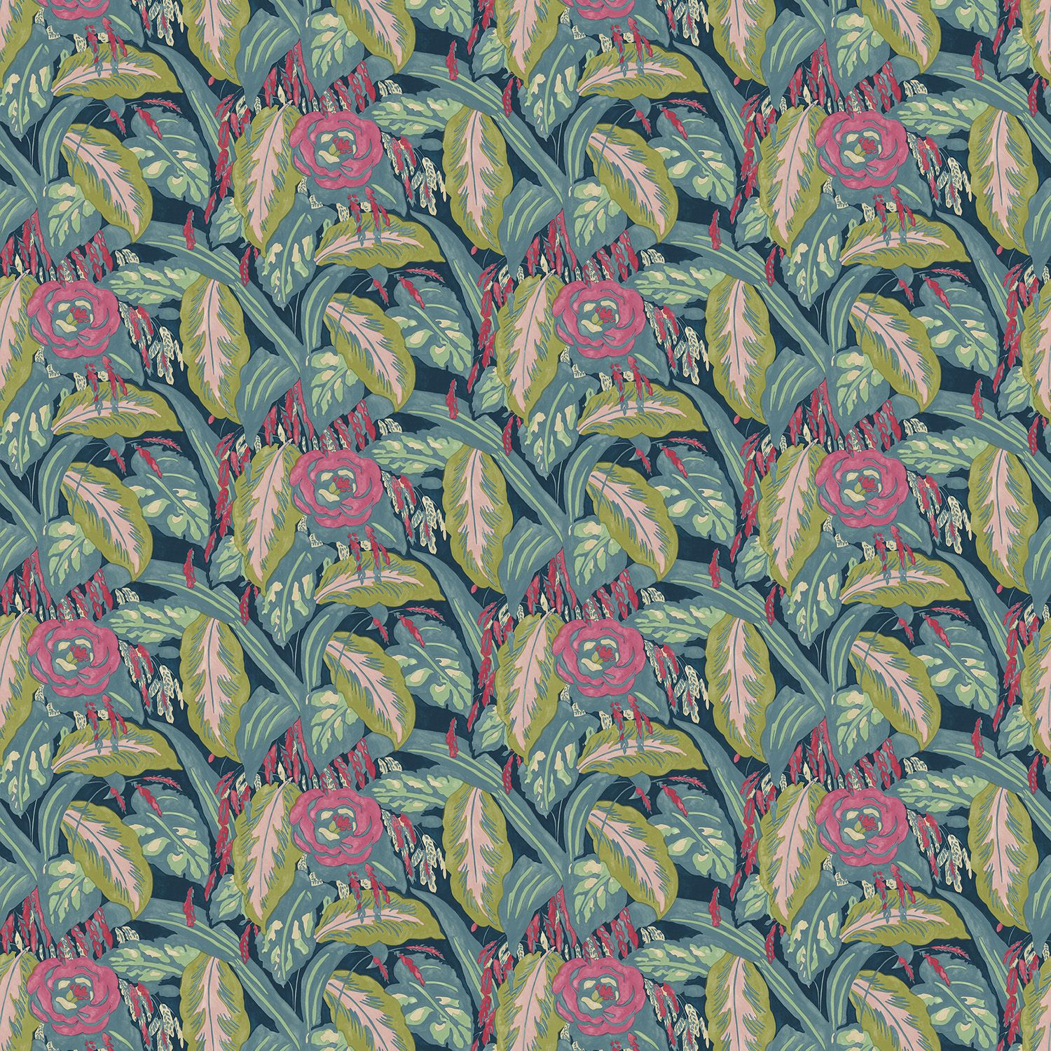 A velvet floral fabric for curtains and upholstery with a