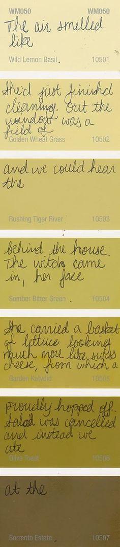 Zauberbear: Paint Chip Poetry
