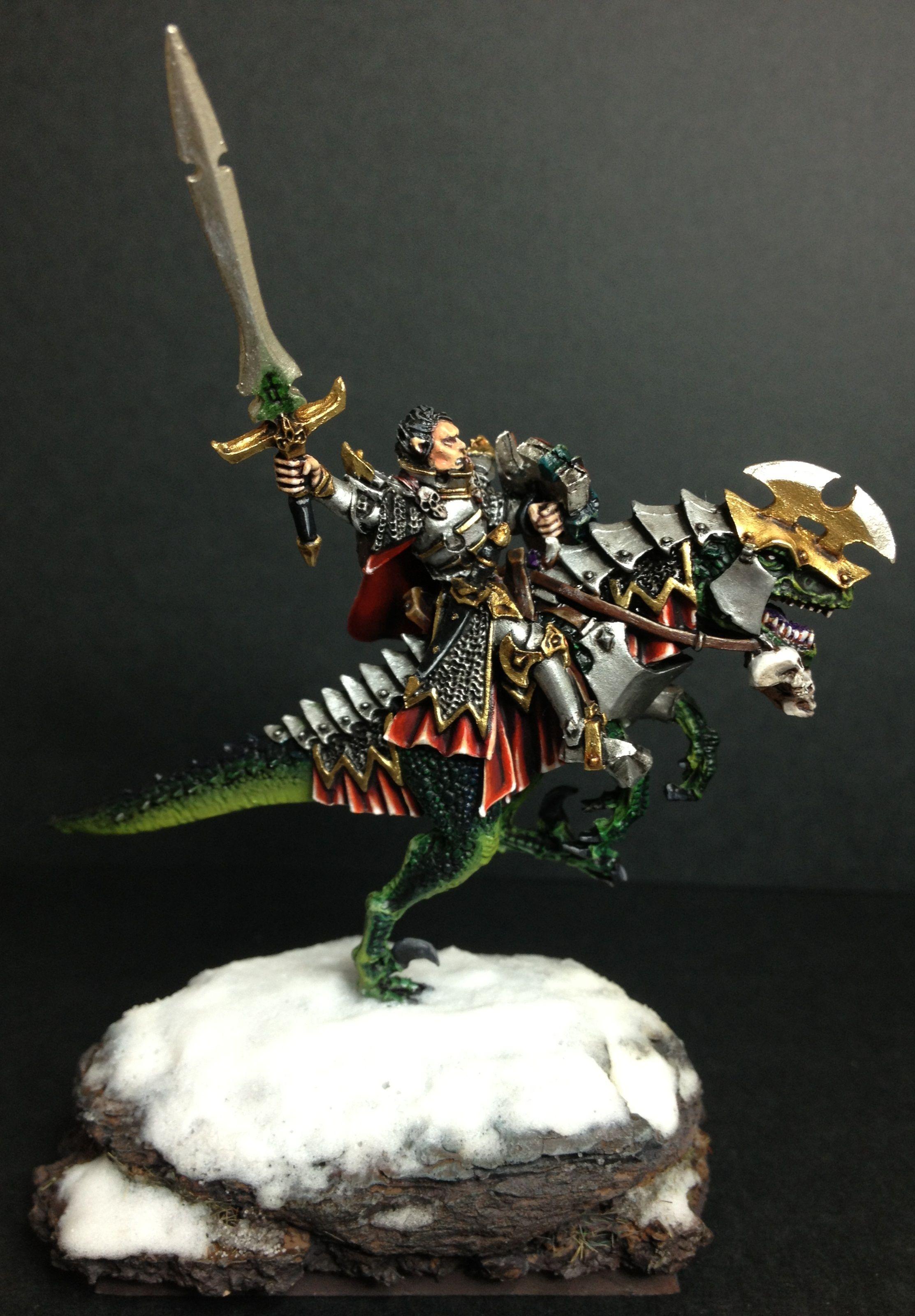 Warhammer Fantasy Príncipe Elfo Oscuro sobre gélido
