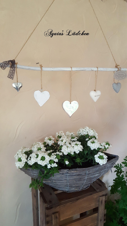 Herzen Deko Zum Aufhangen Im Landhausstil Fensterdeko Hangedeko