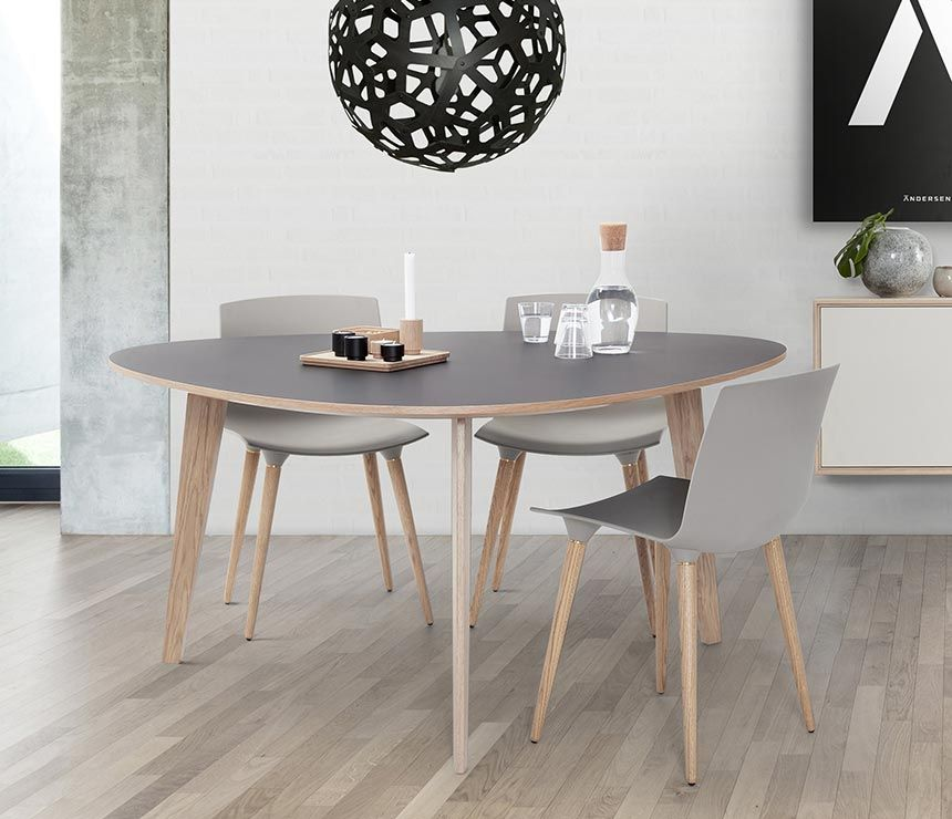 Cool Grey Laminate And Wood Round Dining Table Wharfside Co Uk Cjindustries Chair Design For Home Cjindustriesco