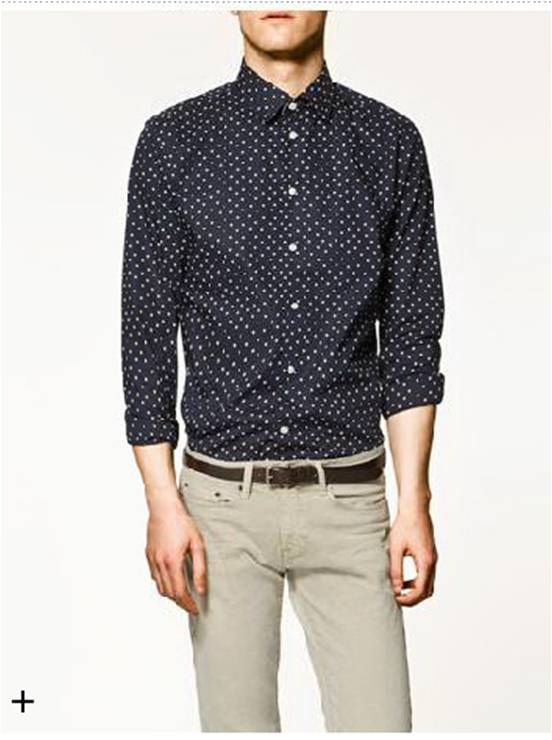 17257a2c4b2e Zara Men s Polka Dot Shirt  Mapleview Centre  SpringFashion ...