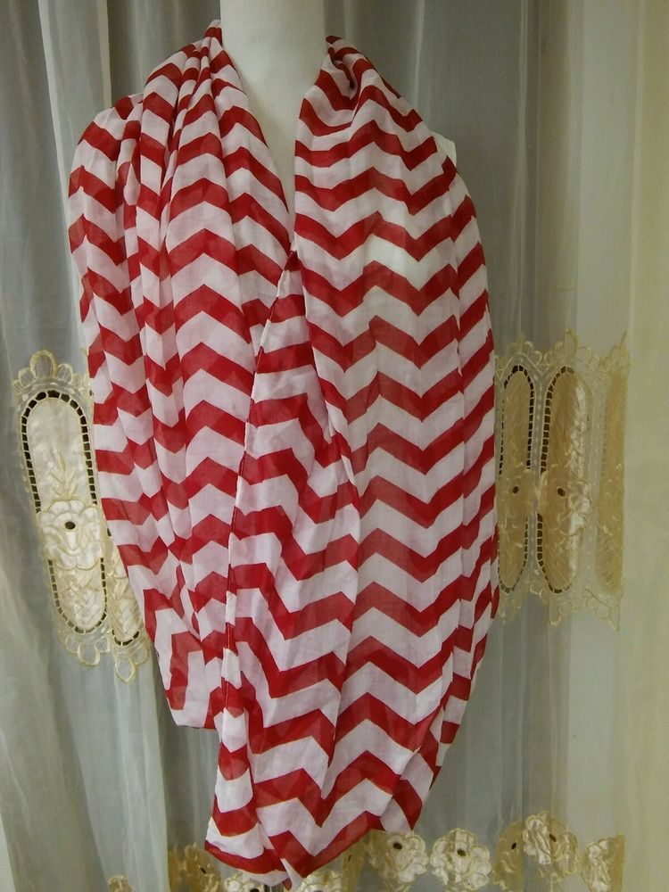 Red& white trendy women's scarf wrap #veond #Scarf