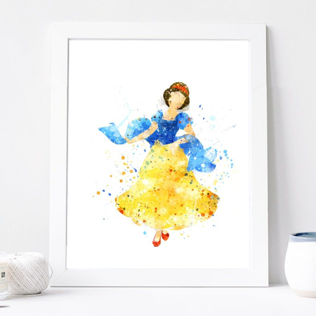 snow-white-print-disney-princess-poster-watercolor-art-print-nursery ...