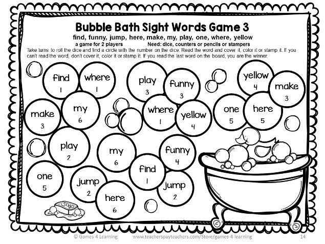 Dolch Sight Words Games Pre Primer List – Pre Primer Sight Words Worksheets
