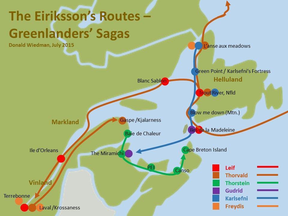 2015 Vinland Map According To Viking Sagas Viking Facts Viking