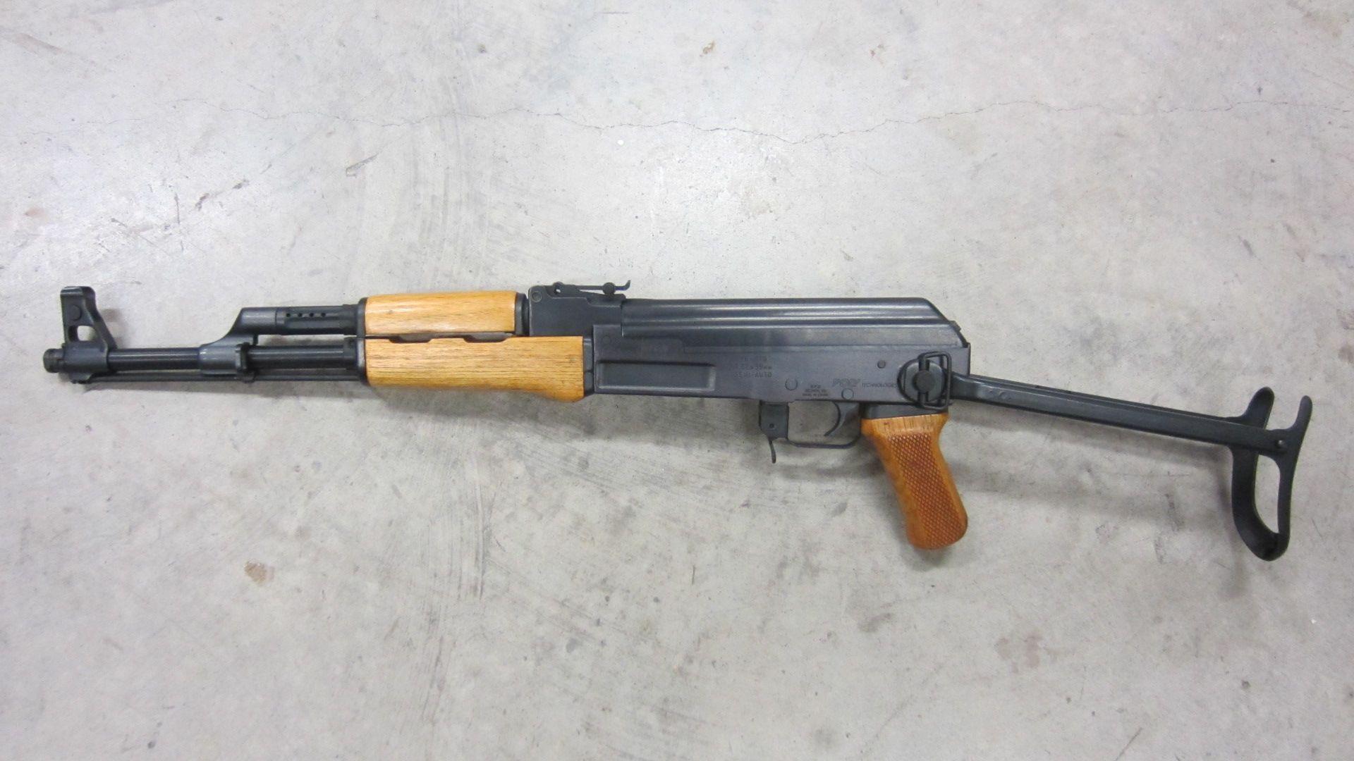 Pre-ban blond Poly-Tech milled receiver under-folder AK47