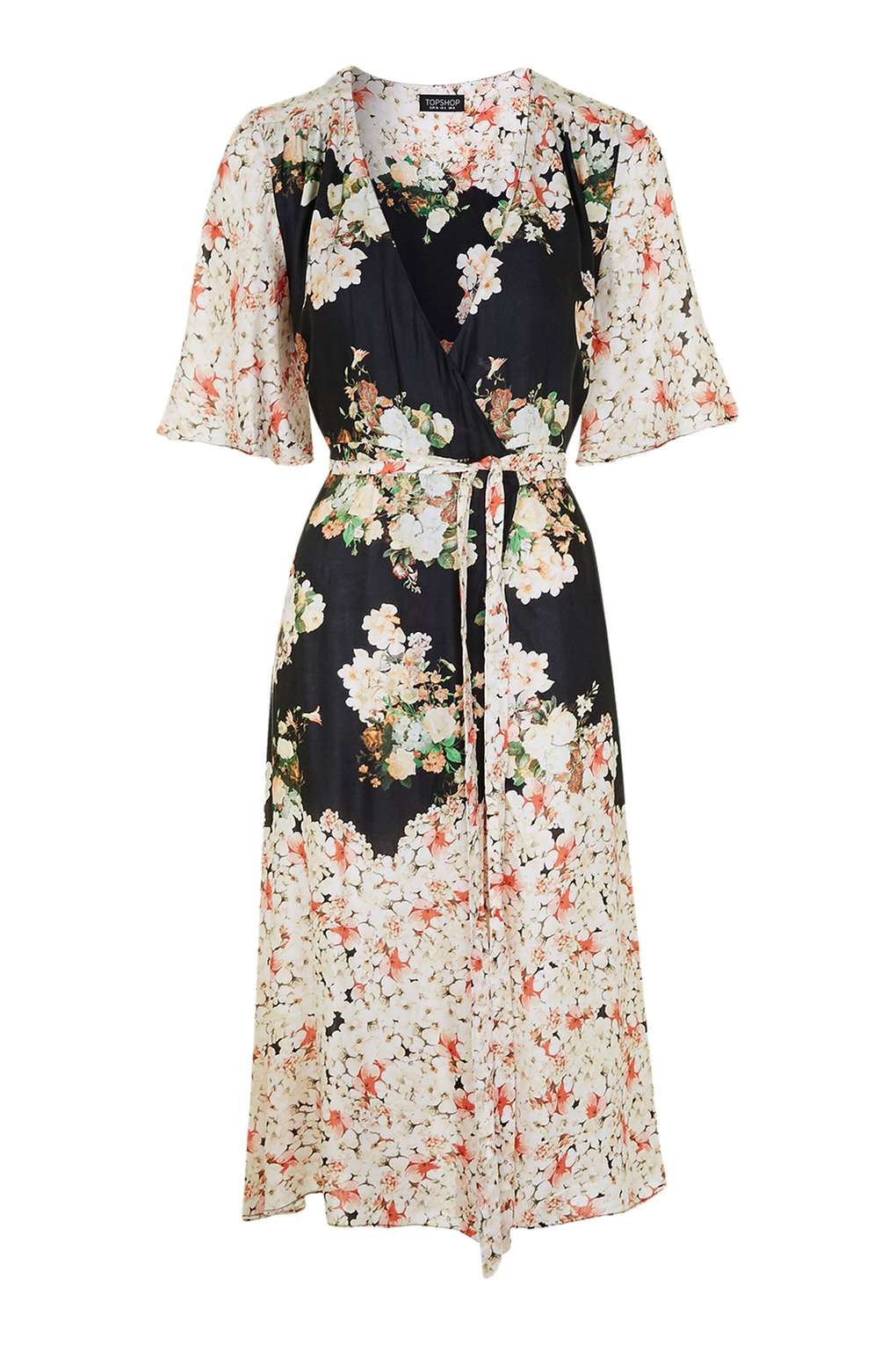 Wedding attendee dresses  Floral Print Belted Wrap Dress  Wrap dresses Topshop and Wraps