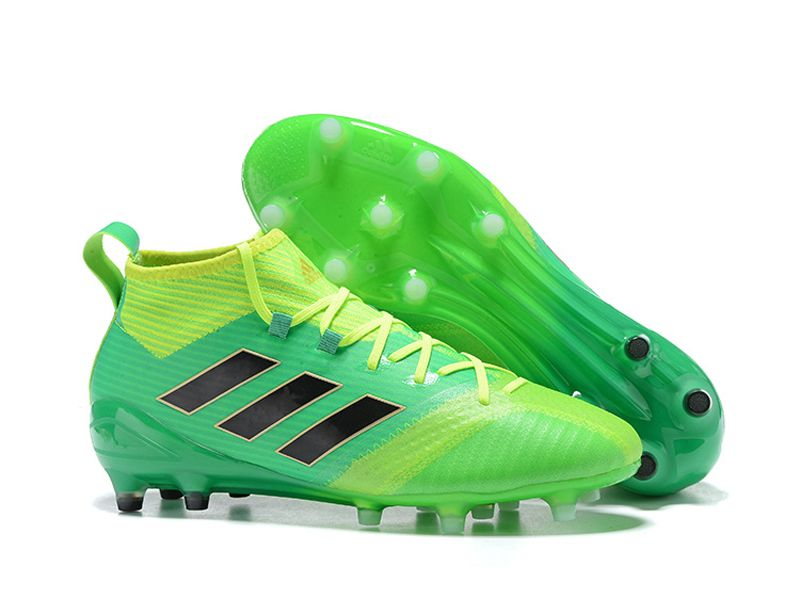 new style a1b63 13f4e Adidas ACE 17.1 Firm Ground Green Soccer Cleats