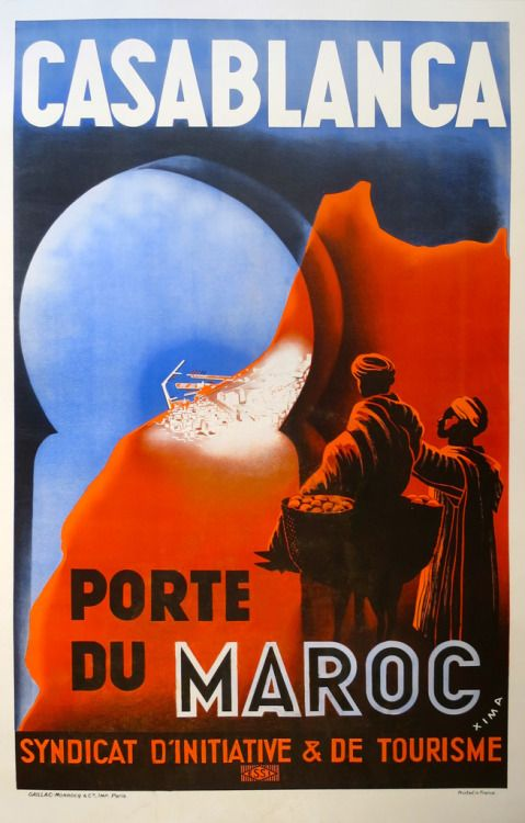 Maroc Morocco Man Horse Arabic Travel Vintage Poster Advertising Repro FREE SHIP