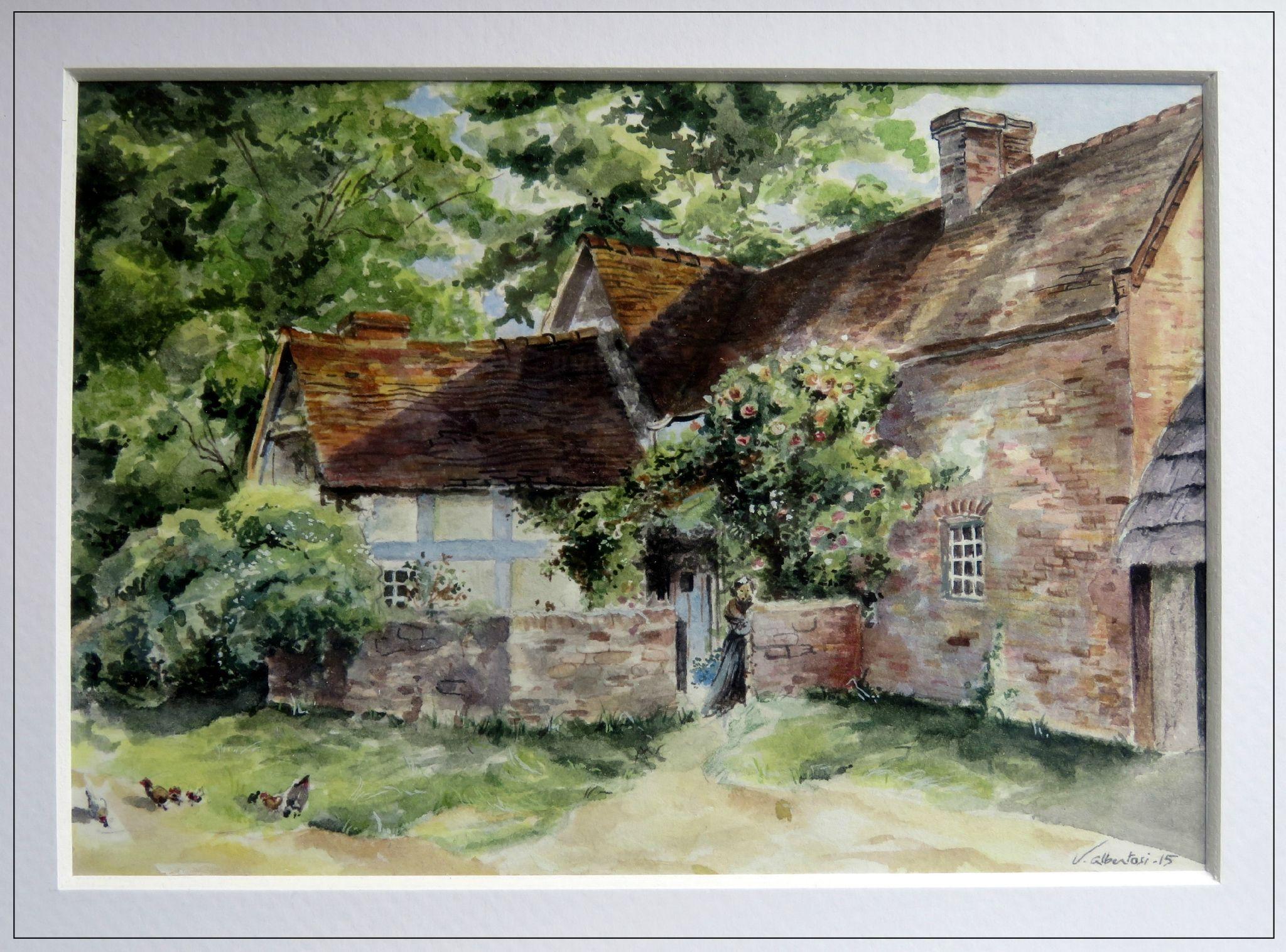 Aquarelle ferme anglaise 19 me siecle tableaux for Artiste peintre anglais