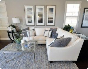 I\'ve Got The Blues Over Gray | White couches, Dark and Living rooms