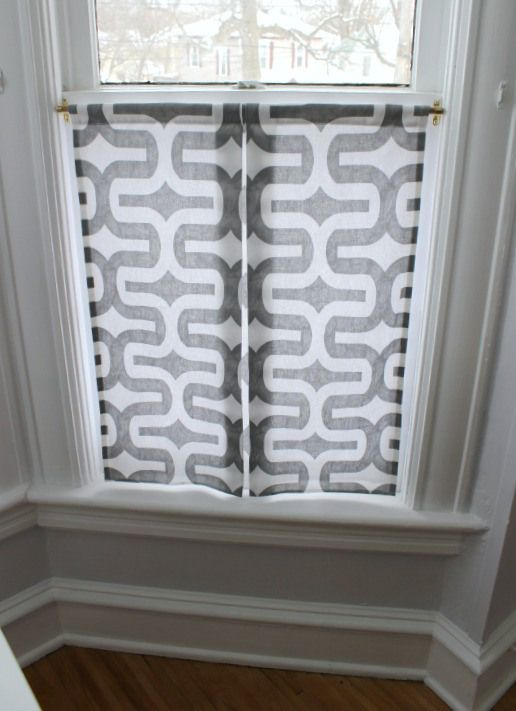 A Modern Take On Cafe Curtains Bathroom Window Treatments
