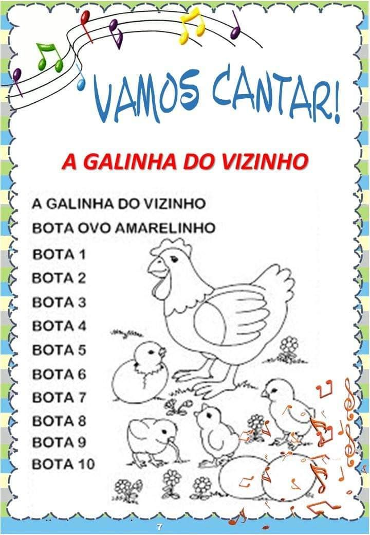 Educacao Infantil Livro De Cantigas Populares Para Imprimir