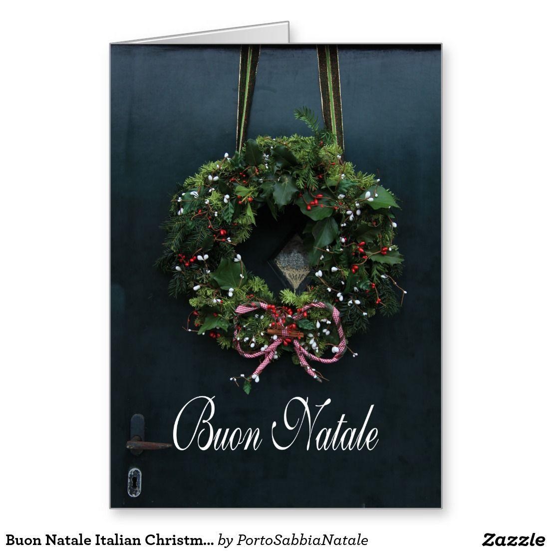 Buon Natale Italian Christmas Card Italian Christmas