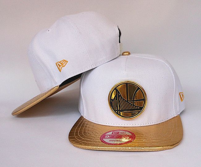Golden State Warriors The City Gold Logo White and Gold Snake Skin New Era  Snap Back Hat be55b6e52811