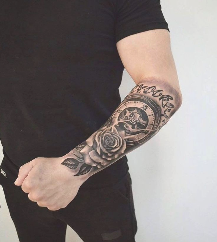 Cruz Del Tatuaje Del Valedor De Los Hombres De Doblez Tatuajes Tatuajes Para Hombres Hombres Tatuajes Tatuaje Reloj Y Rosa