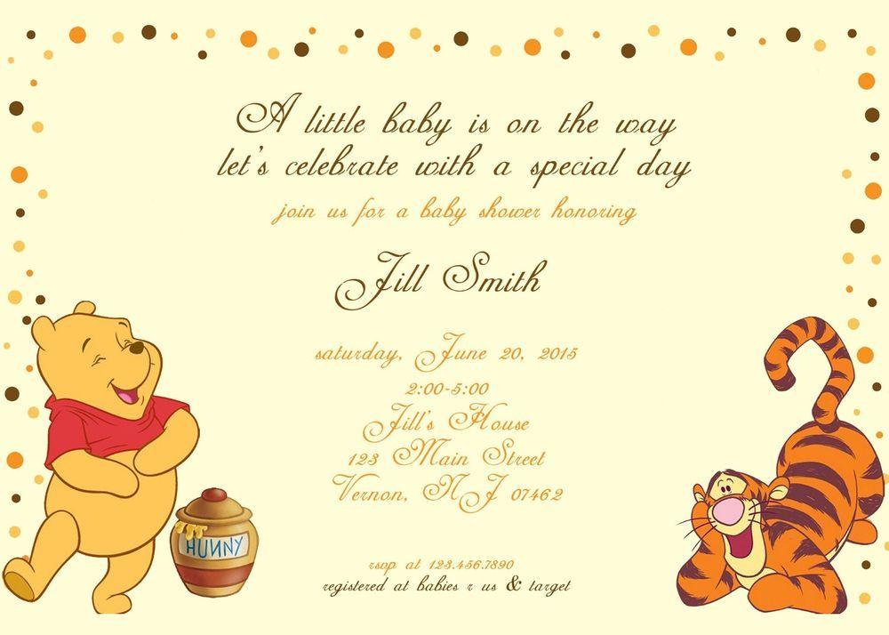 Baby shower Invitation, Winnie the Pooh Baby Shower Invitation ...