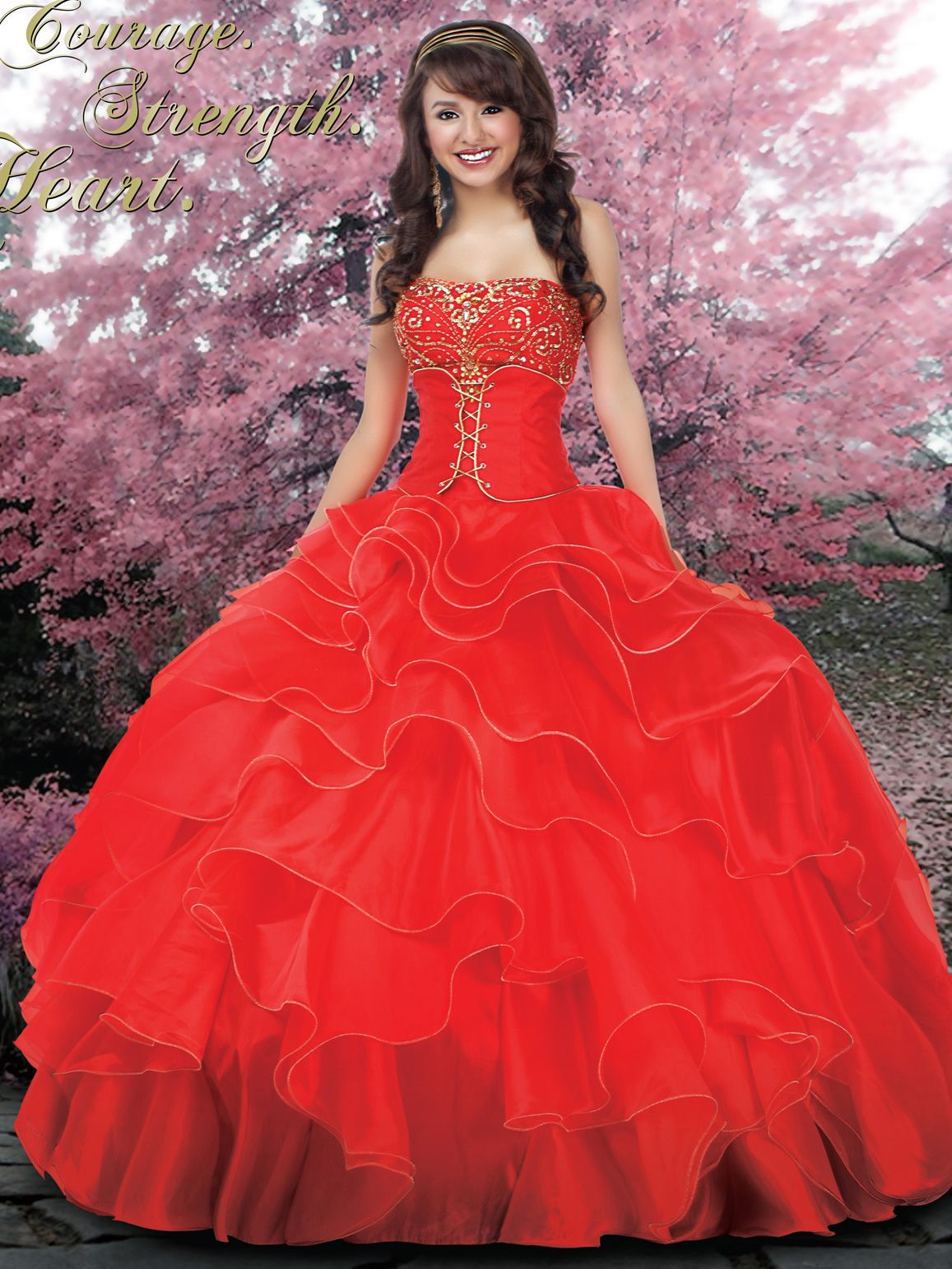 Red quince dress Fancy Dresses Pinterest Quinceanera Quince