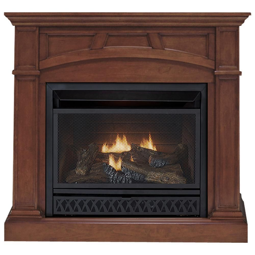 Emberside 43 In Convertible Vent Free Gas Fireplace In Cherry