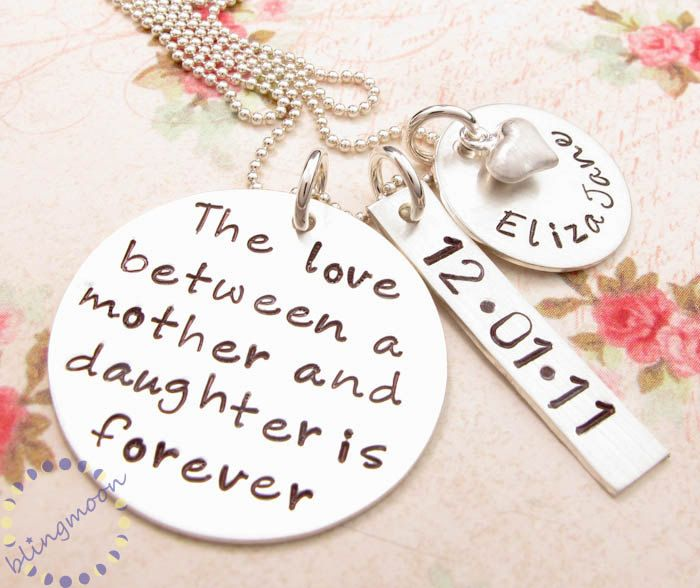 Mommy necklace hand stamped necklace mother daughter jewelry mommy necklace hand stamped necklace mother daughter jewelry mom necklace mother daughter aloadofball Gallery