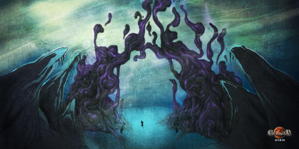 La Porte d'Ombre relie le monde d'Hefidjah au Septième Monde. Il faut être un peu fou pour oser franchir ces Portes