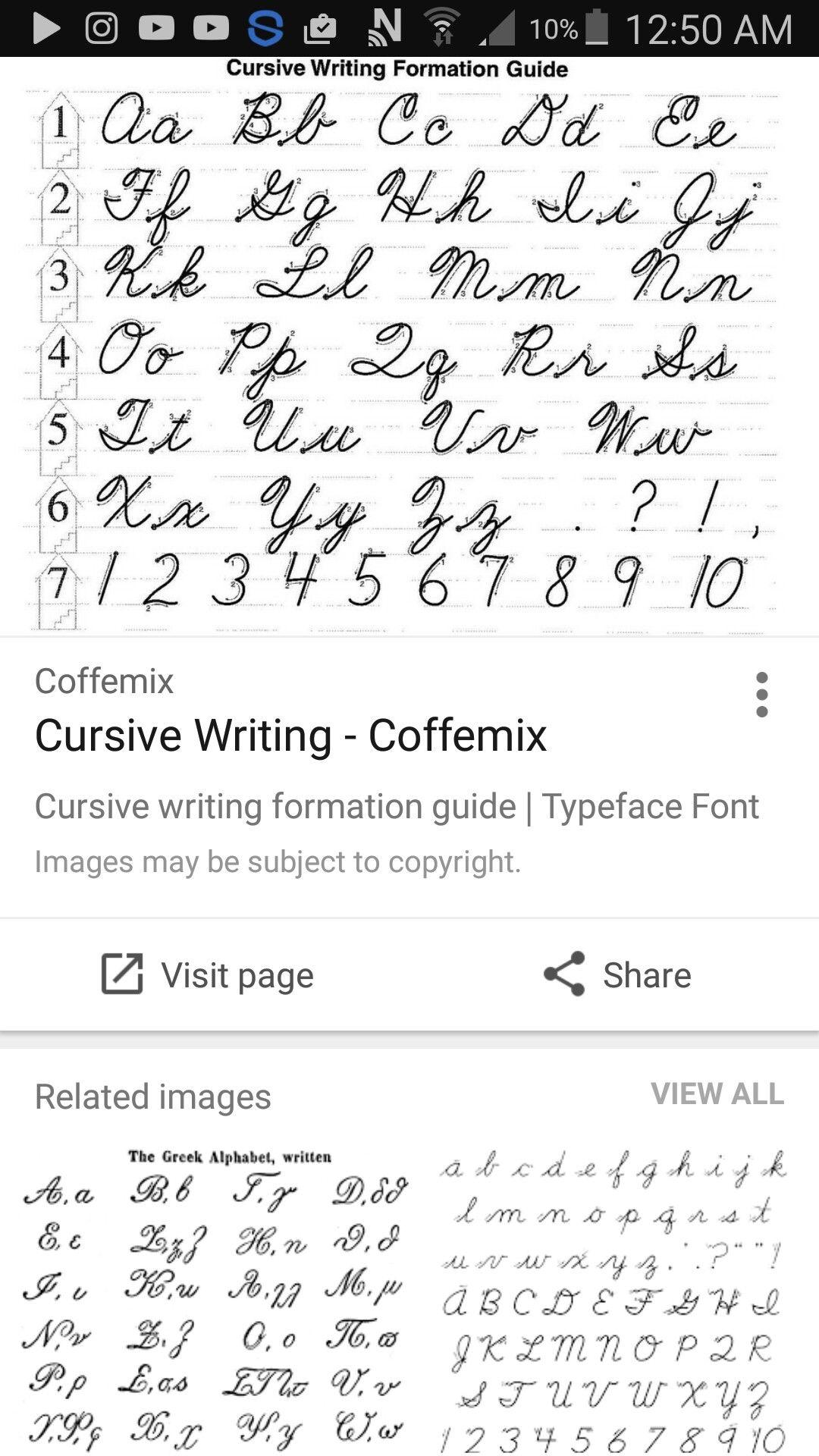 Pin By Glen Van Etten On Cursive Handwriting