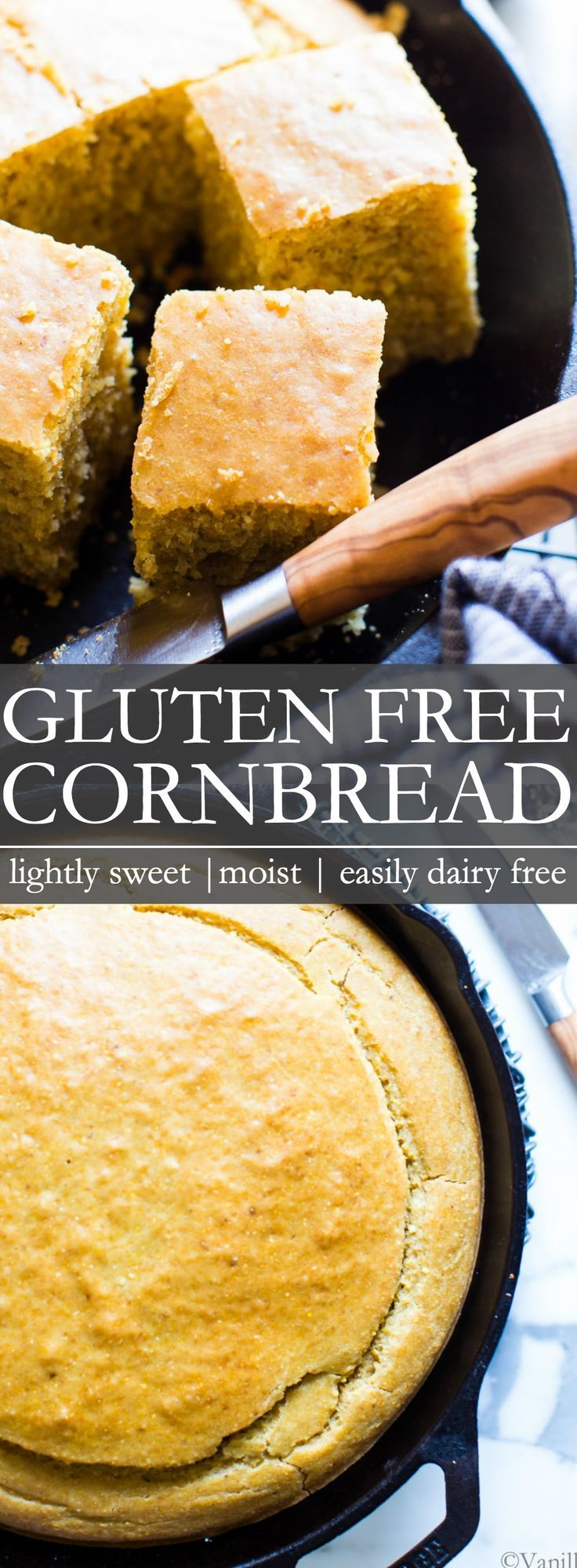 Gluten Free Cornbread Made With Diy Buttermilk And With A Dairy Free Option Gluten Free Cornbread Gluten Free Sweet Gluten Free Cornbread Recipe