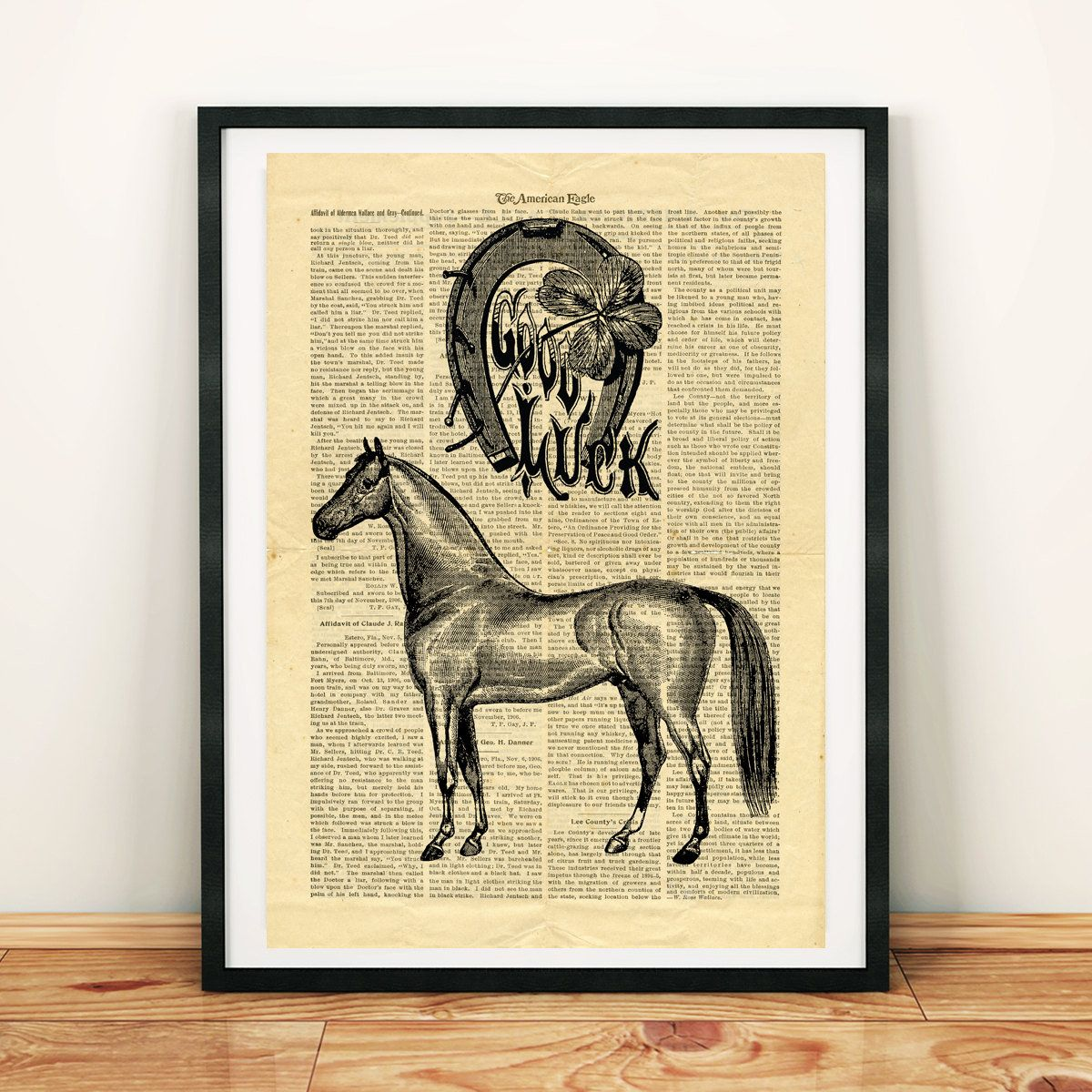 Horseshoe Vintage image Horse Good Luck Printable Collage Old ...