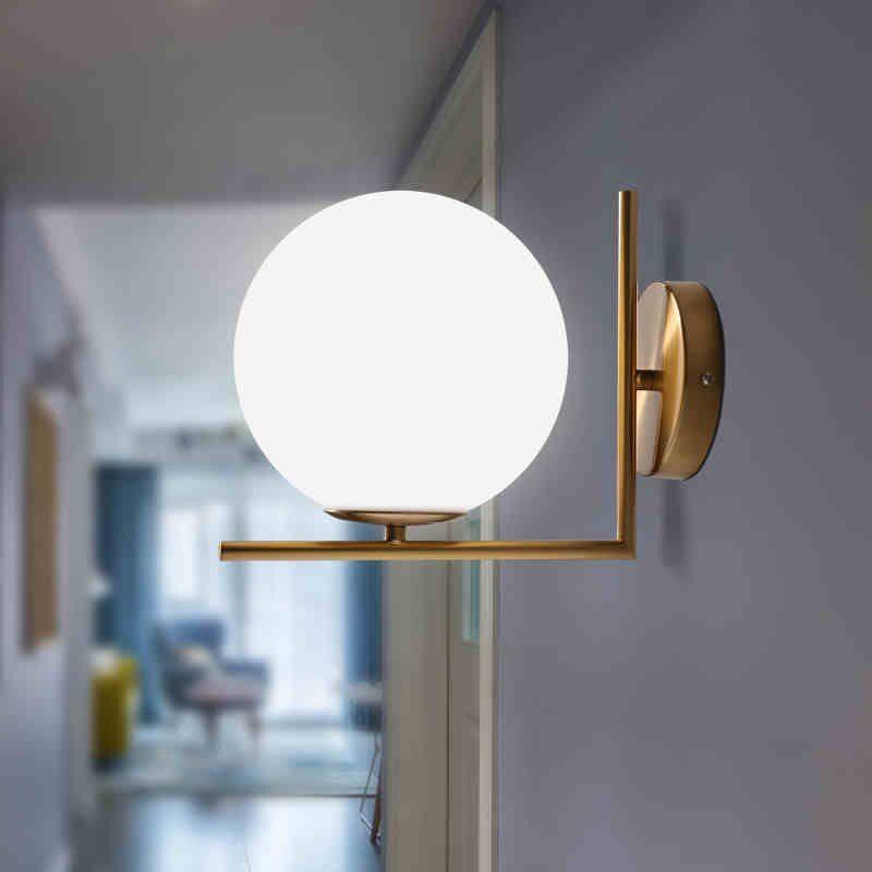Sale Now Modern Glass Ball Wall Lamps Led Bedside Indoor Wall Lights Modern Wall Lamp Globe Wall Light