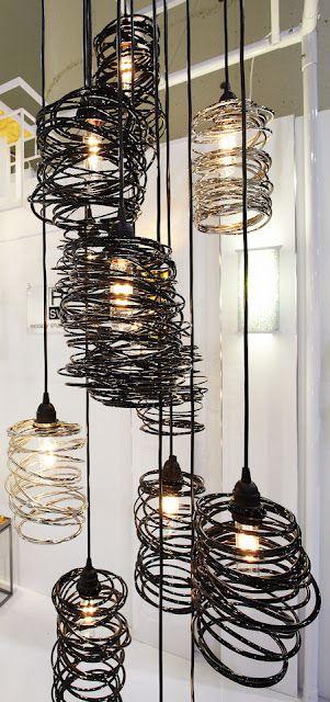 metal lighting. spiral nest metal light fixtures by ridgely studio works lighting