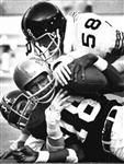 Bengals Charlie Joiner is brought down by Andy Russell and Jack Lambert 11/03/1975