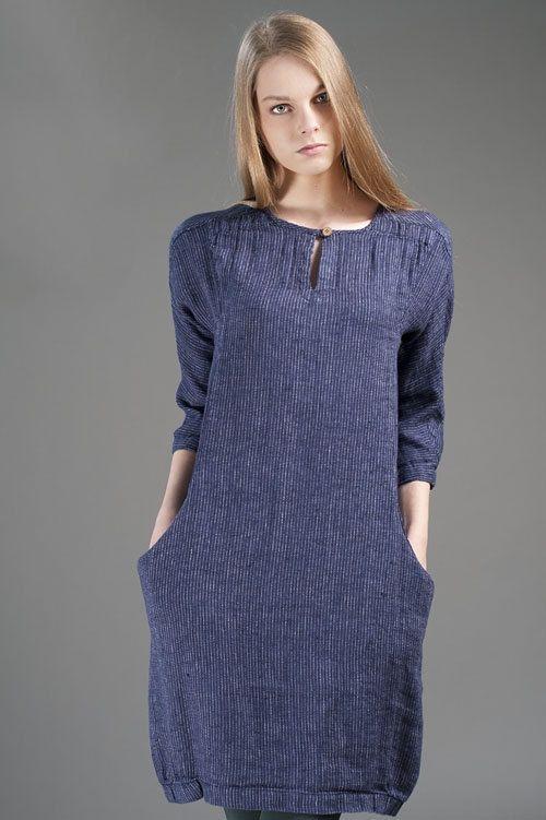 6807274ce575 Linen women dress, Pure linen dress, Linen clothing, Linen clothes, Organic Linen  Dress