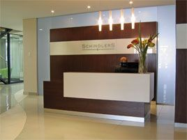 Law Office Design Ideas law office design ideas a law office that rocks officeenvy Reception Desk At A Law Firm In Melrose Arch Mahogany Veneered Desk